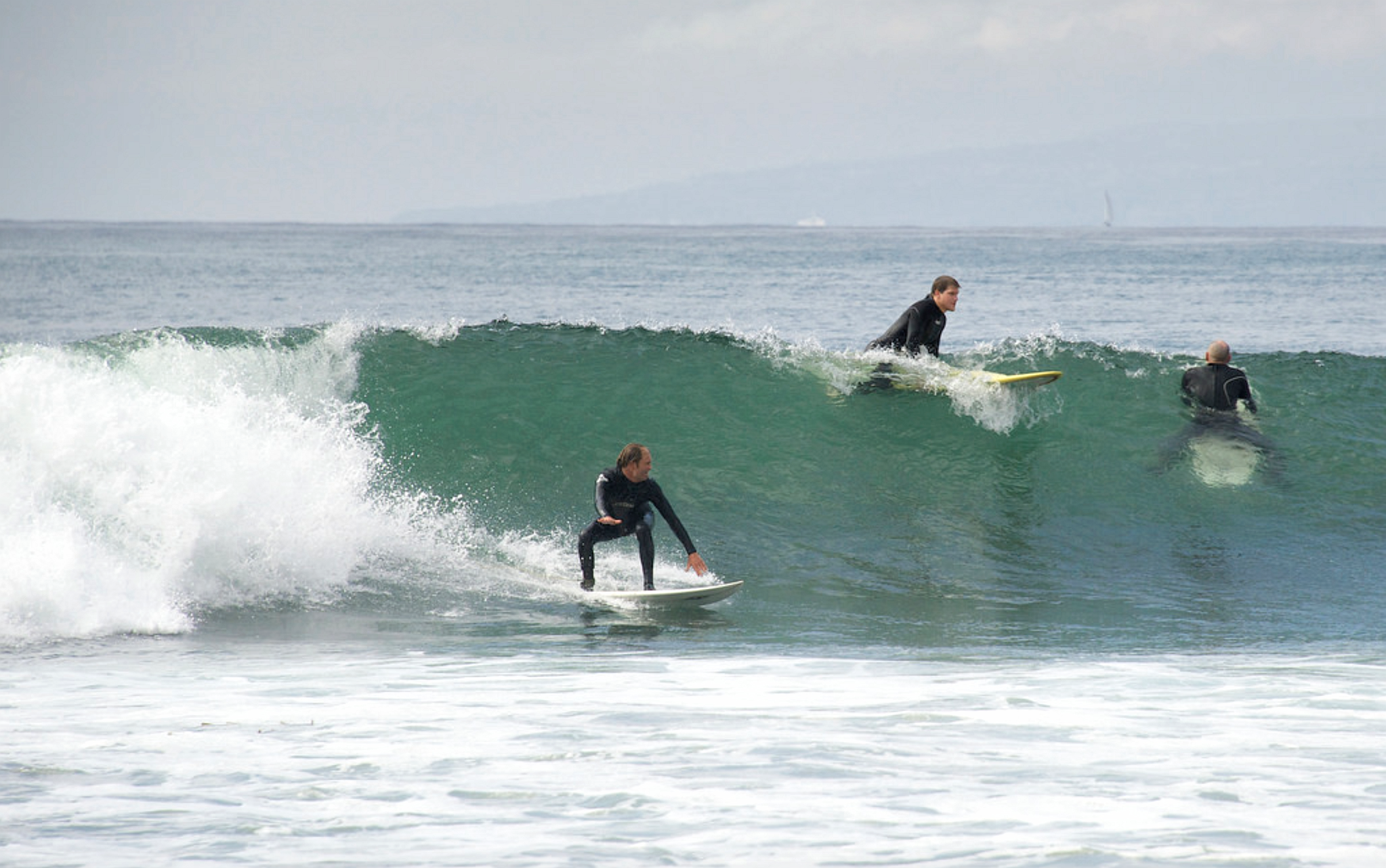 Surfing in Malibu